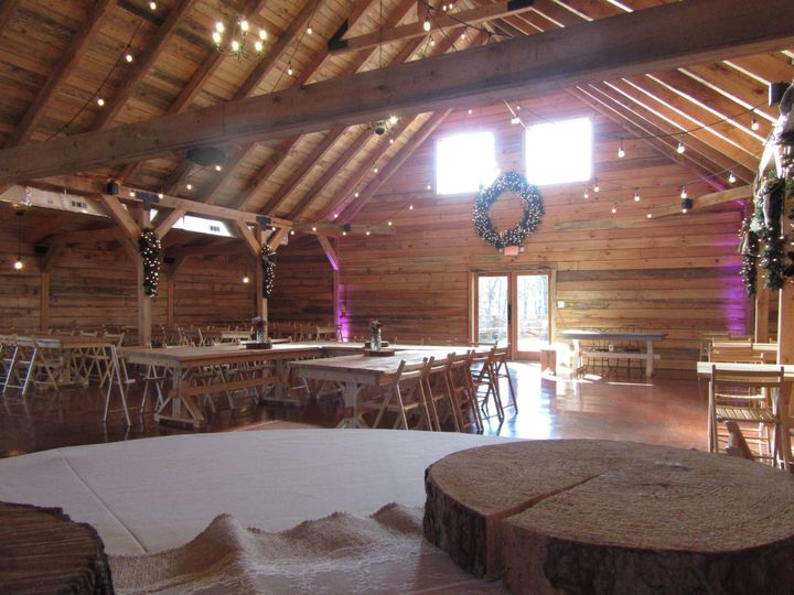 Inside barn venue