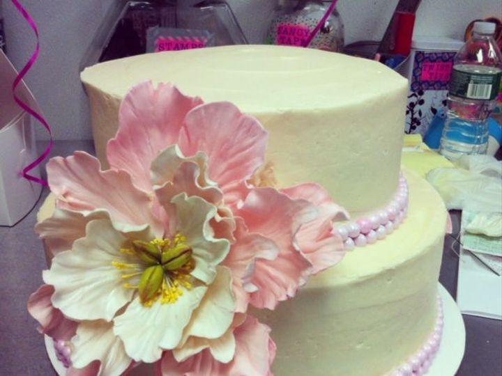 Tmx 1517422437 438b125dde796768 1517422436 A56a627ec9397e60 1517422436489 9 Peony 2 Centerport wedding cake