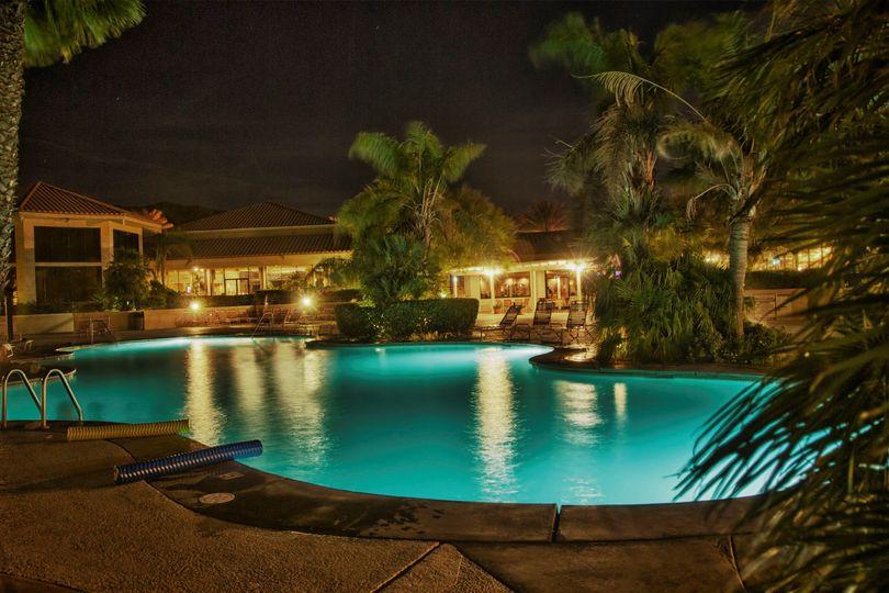 Night View of the swimmingpool