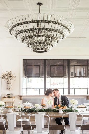 A simple brunch reception in Asheboro, NC, for this couple!