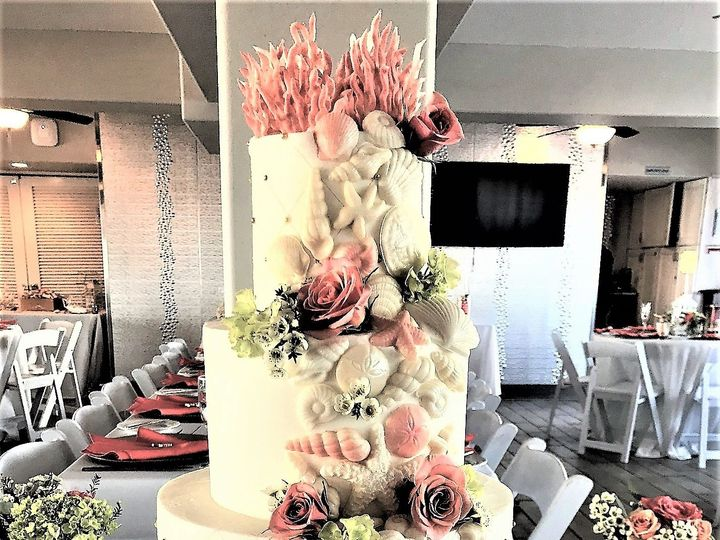 Tmx Peach Sea Shells 51 760804 159346573463018 Saint Petersburg, FL wedding cake