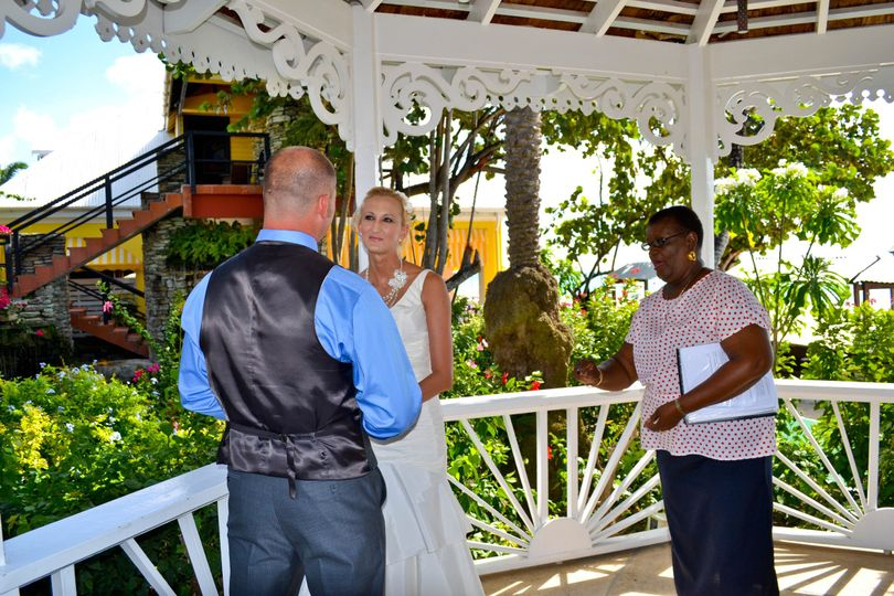 Saying the vows