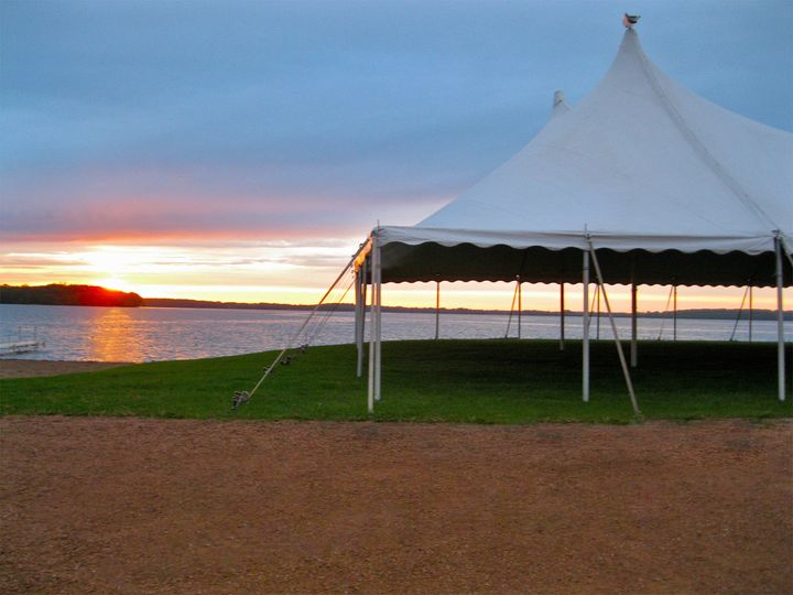 Tmx 1403103297919 Tent By Water Sunset Edit Minneapolis, MN wedding rental