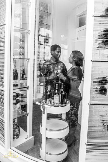 Proposal  in wine cellar