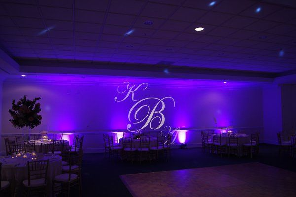 Uplighting and custom monogram.