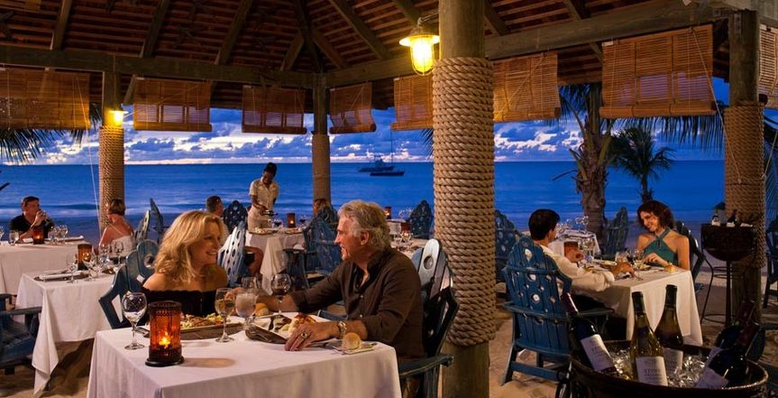Dinner at a Sandals resort