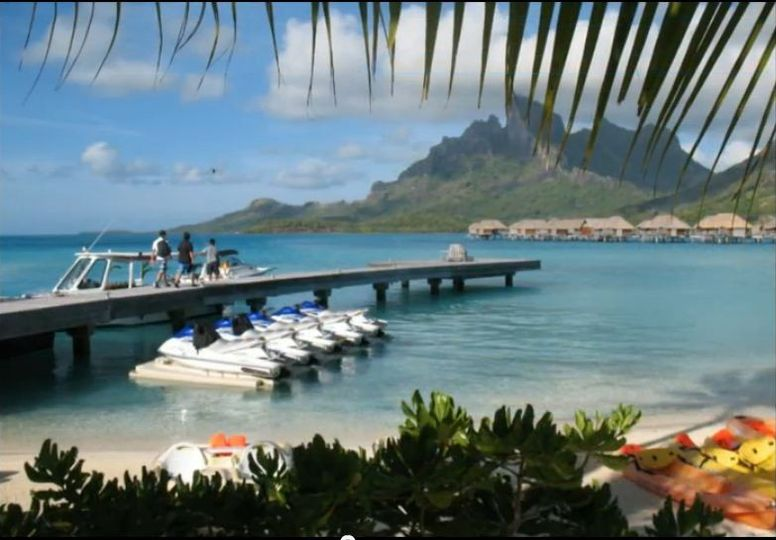 view from the Four Seasons resort in Bora Bora