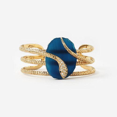 blue serpent druzy wire cuff