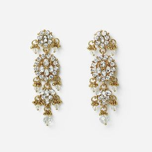 crystal maharani earrings isharya