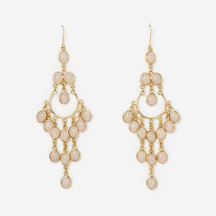 e1023 12683 rose quartz chandelier earrings