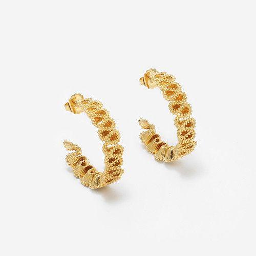 e1482 02710 tenacle wave earrings