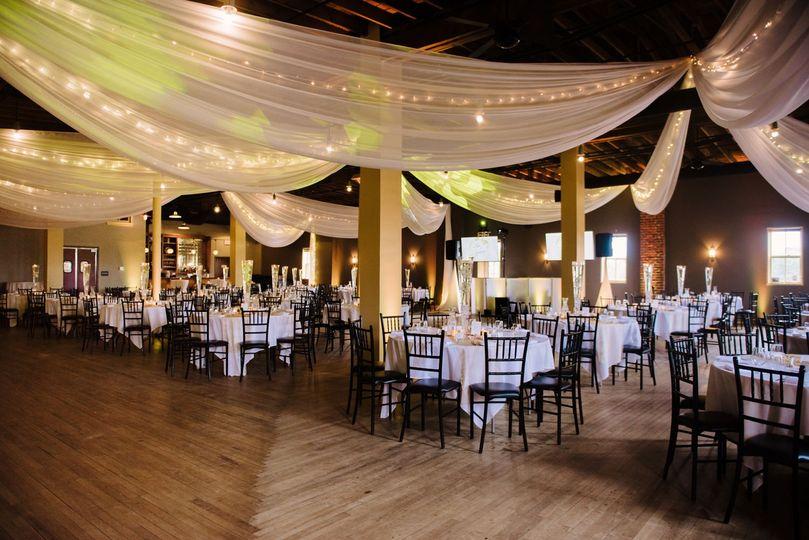 Hanging fabric wedding