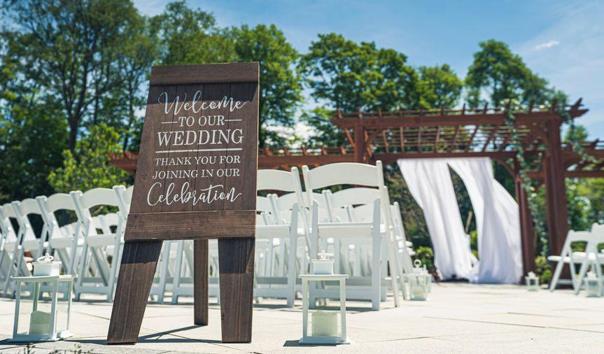 Outdoor wedding fabric
