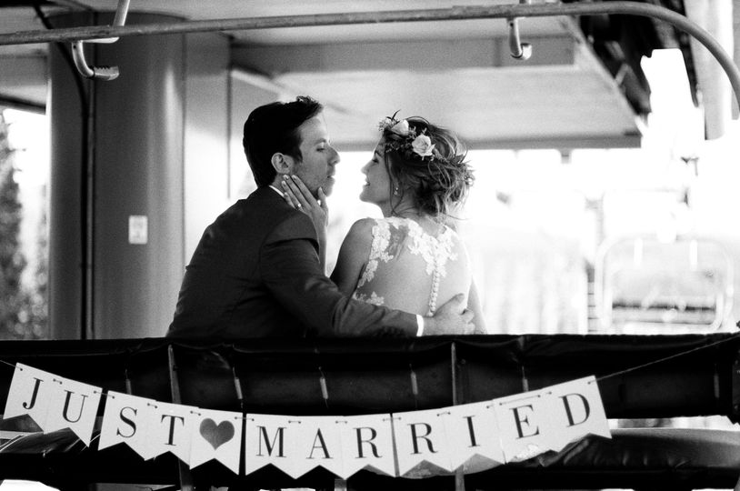 Just married chairlift