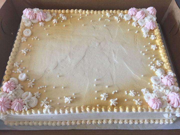Half sheet cake