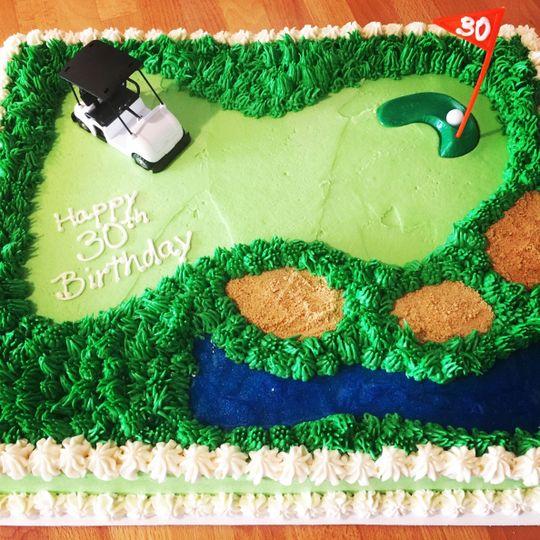 Golfer groom's cake