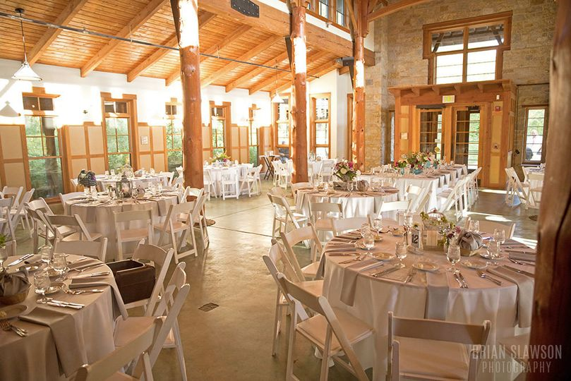 Natural lighting in reception venue