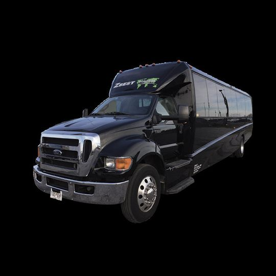 Big long black van