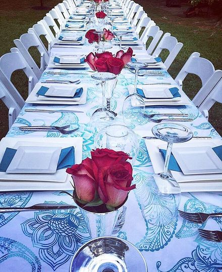 Long guest table