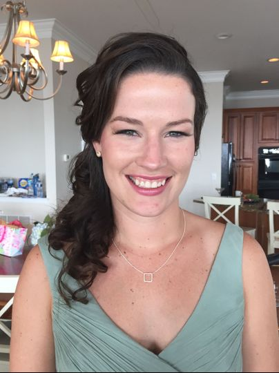 Bridal party makeup and hair