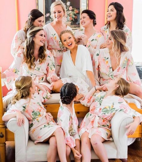 Glam bridal party
