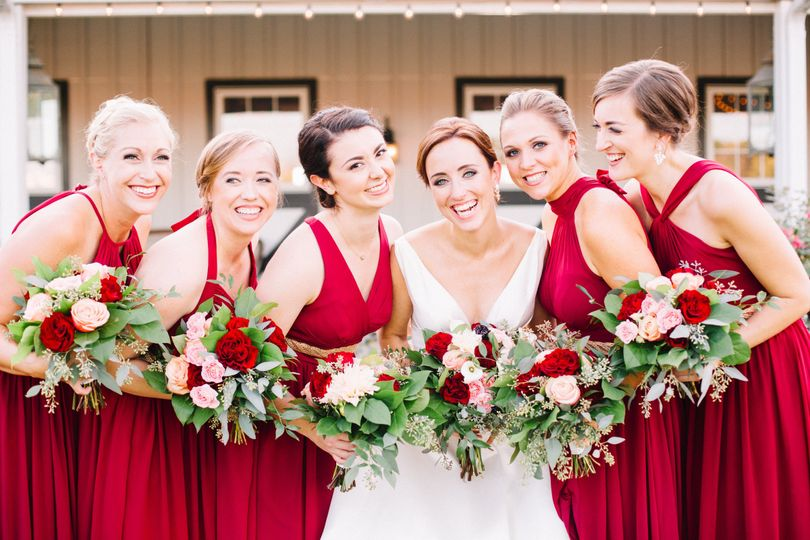 Red roses and dresses