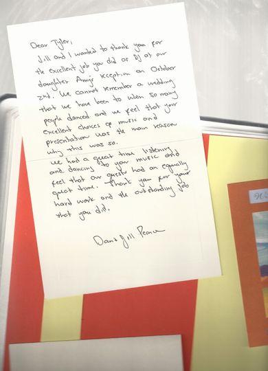 Hand written thank you!