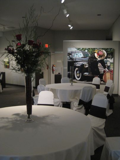 Event seating shown in our Kinney Lindstrom Gallery