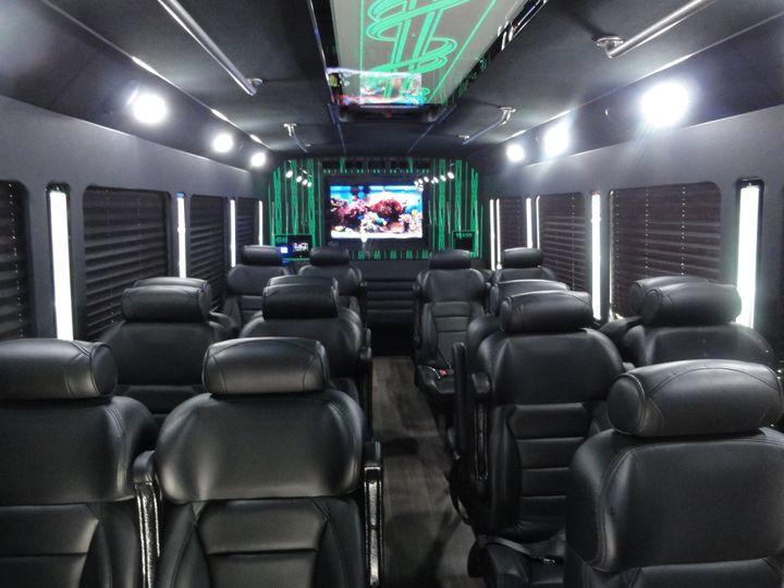 Comfortable black seats