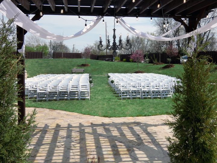 Blue cedars terrace ceremony
