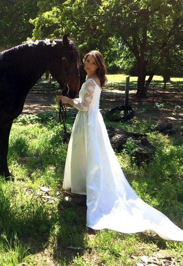 Handsome equine escort for a beautiful bride