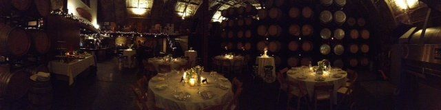 Panorama ~ Sit down birthday dinner for 40 guests.