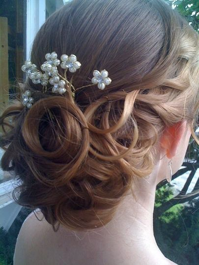 Updo and floral notes