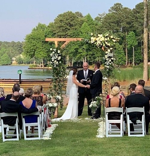 Tmx Ceremony By Lake At Rock House 51 954014 158318252427263 Greensboro, GA wedding venue