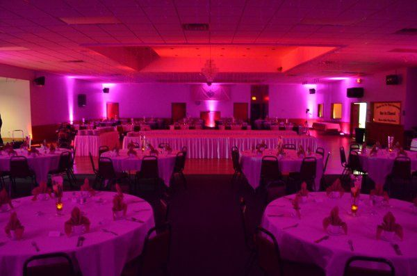 Wall Color Wash with Ceiling Off-Color Effect.  Location Knights of Columbus Hall, Lexington, MI