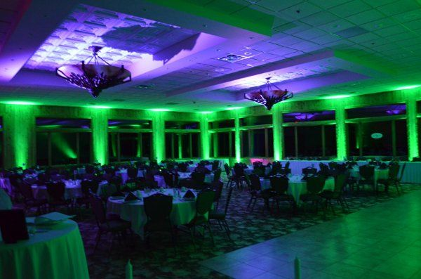 Fore Lakes West Hall.  Green Wall with Blue Ceiling