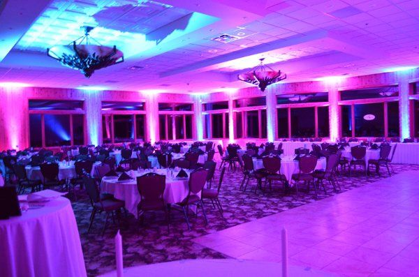 Fore Lakes West Hall.  Two Tone Blue and Purple