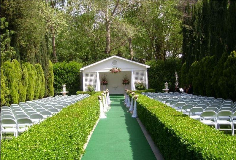 The garden ceremony chapel