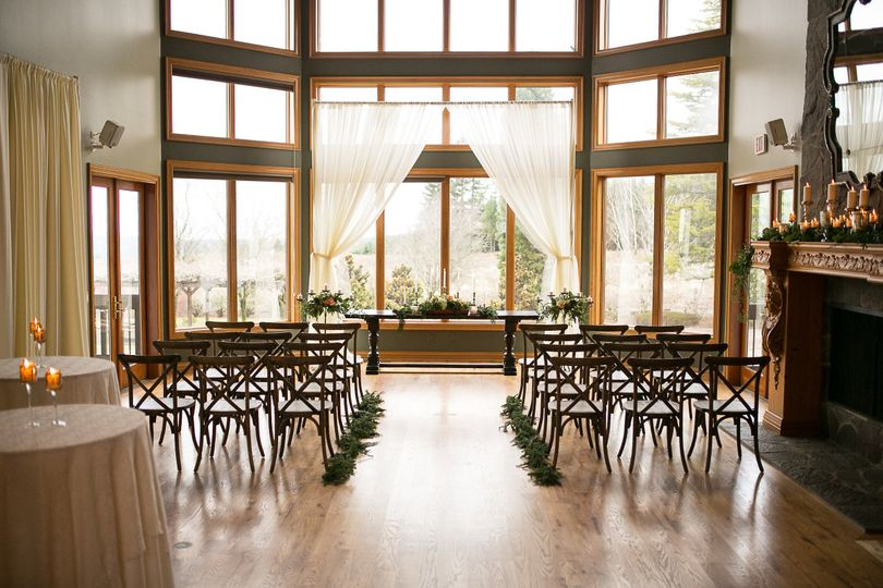 Stunning views bring the outside in for indoor weddings and receptions.