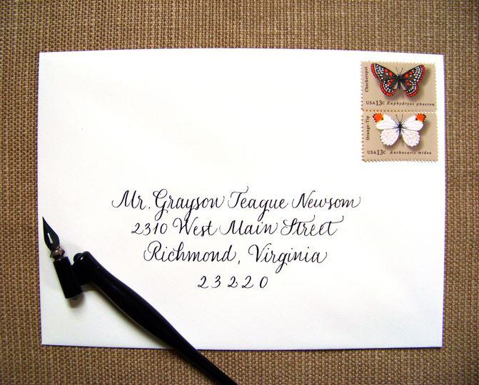 classic ecru envelope black ink