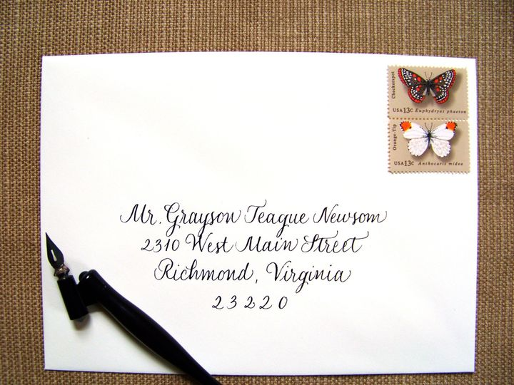 Tmx 1426353619503 Classic Ecru Envelope Black Ink Winston Salem wedding invitation