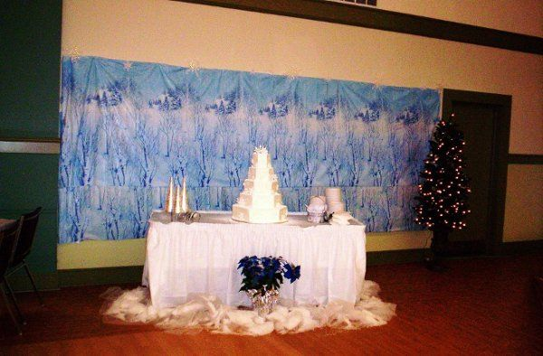 A picture of a wedding done at our site