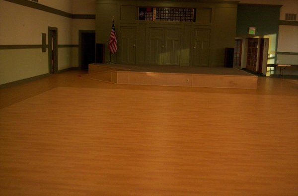 Picture of our stage and dance floor
