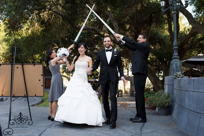 Swords over the newlyweds