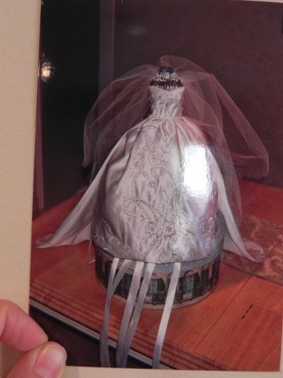 Custom bridal doll made to simulate the bride's gown.