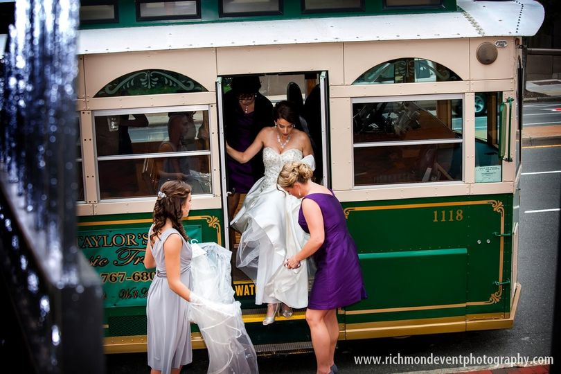 Girls helping the bride