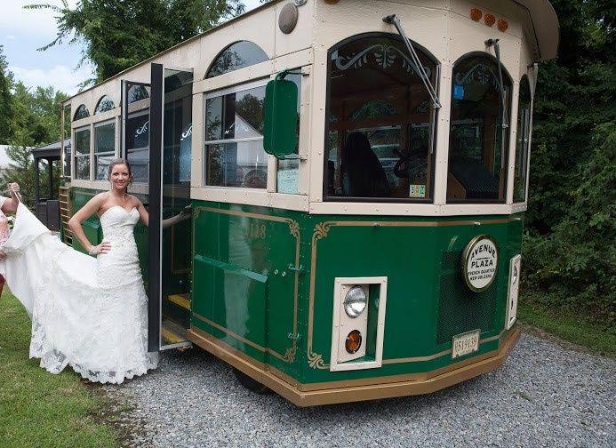 Tmx 1415193172989 Photo   Trolley.bride4 Richmond, Virginia wedding transportation