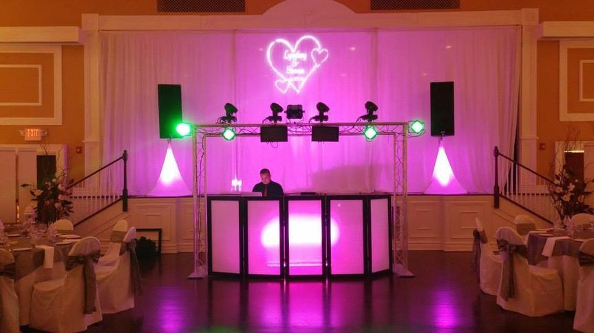 DJ station with uplighting
