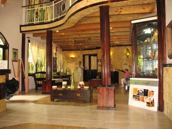 Wooden lobby