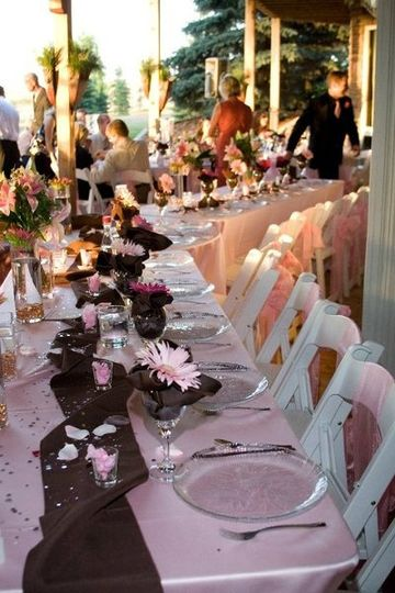 MAG can help create beautiful table-scapes with details that fit your wedding vision.  Picture...